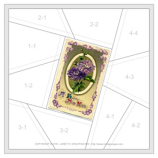 A Happy New Year Crazy Quilt Block from Vintage Vogue
