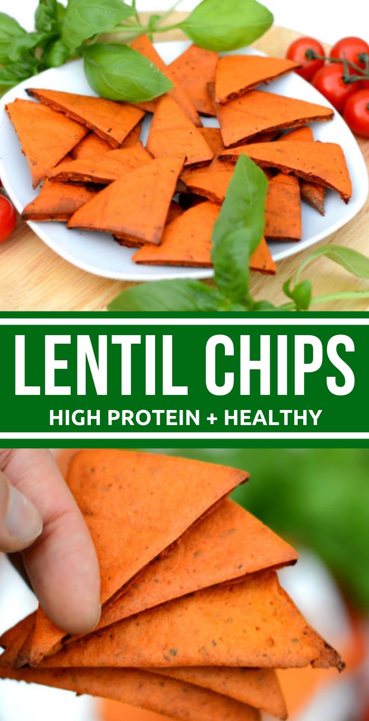 TOMATO AND BASIL LENTIL CHIPS RECIPE #vegan #healthy