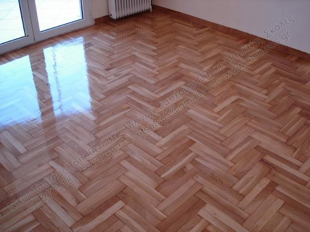Συντήρηση - παρκέ διαρκείας σε ξύλινο πάτωμα