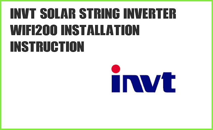 INVT inverter WIFI200 Installation Instruction PDF