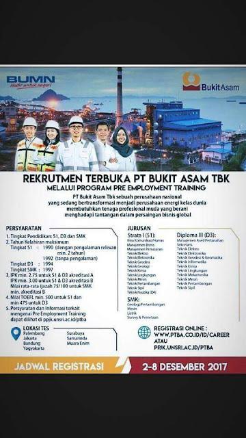 Rekrutmen Pegawai Perusahaan Pertambangan Negara Tahun 2017