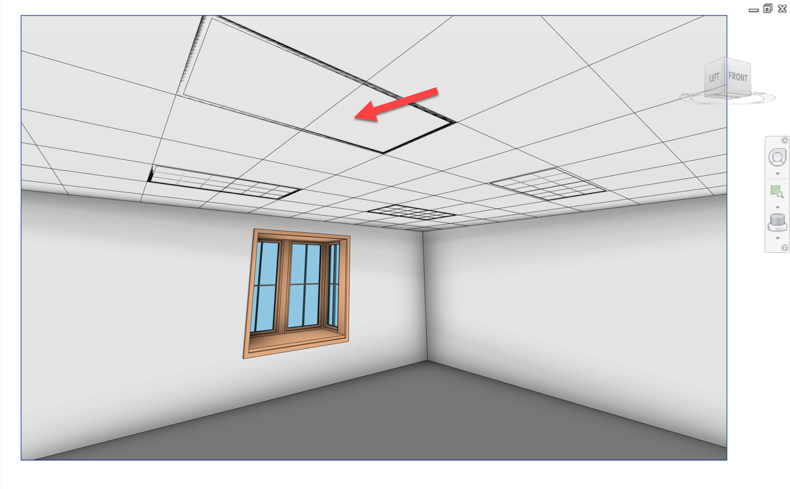 Here is a 3d view in revit showing the overlapping geometry