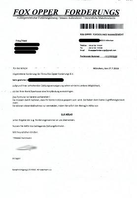 Fox Opper Forderungs Management Anschreiben Seite 1