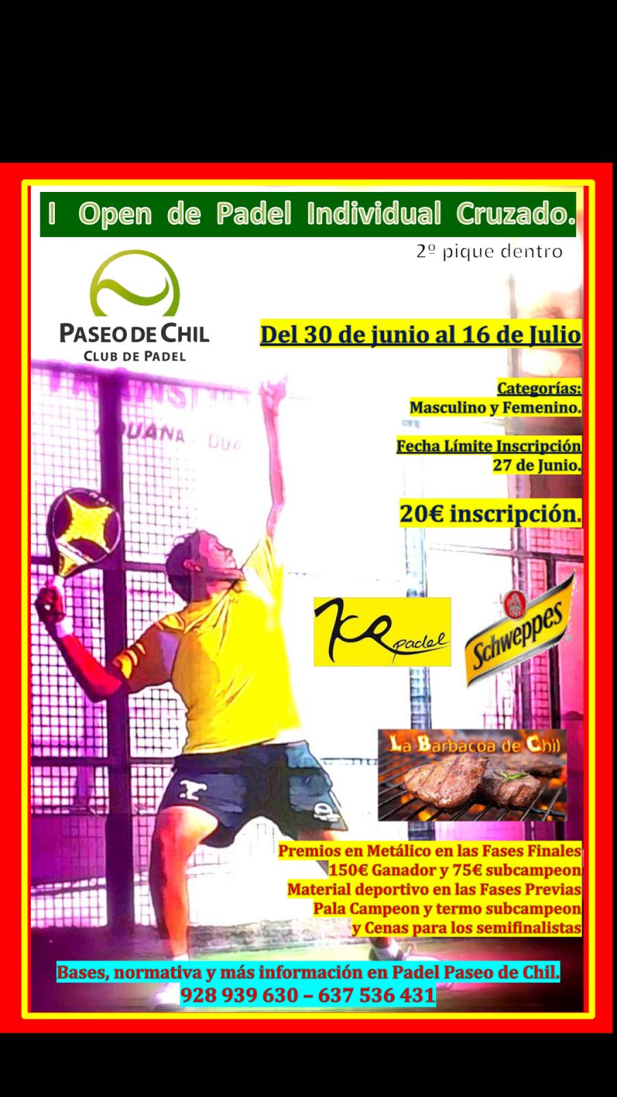a9f88a232 Padel Paseo de Chil, Las Palmas: E V E N T O S