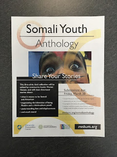 flyer about anthology about Somali youth
