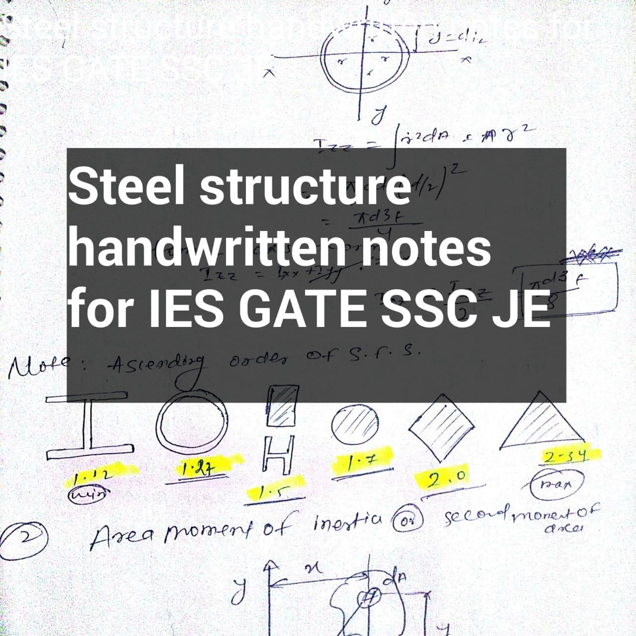 Design Steel structure handwritten notes