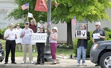 Protesting Geert Wilders in Franklin, TN