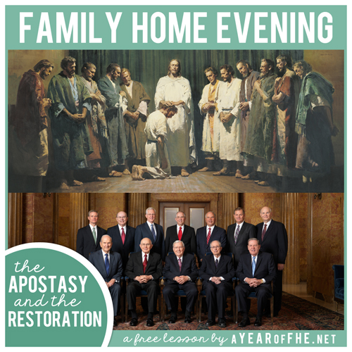 Lds Quotes On Family Home Evening: A Year Of FHE: LDS Family Home Evening // The Apostasy And