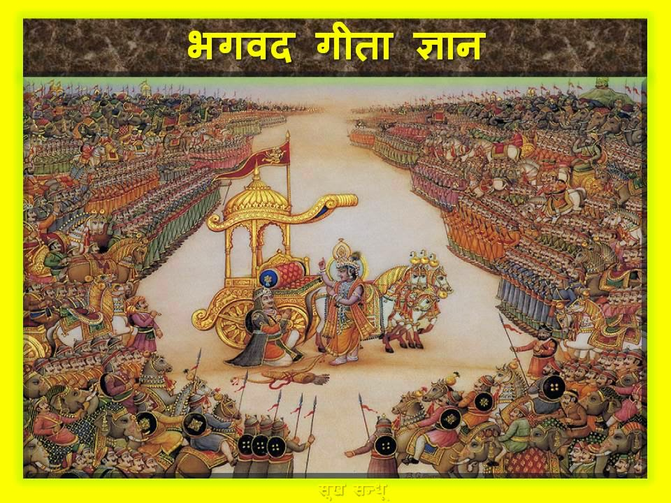 Bhagavad gita slokas with meaning in Hindi