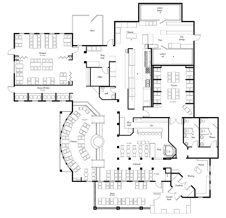 Foundation Dezin & Decor...: Restaurants Plan Layouts & Tips.