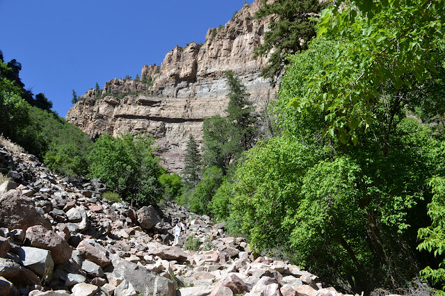 rocky trail into the canyon