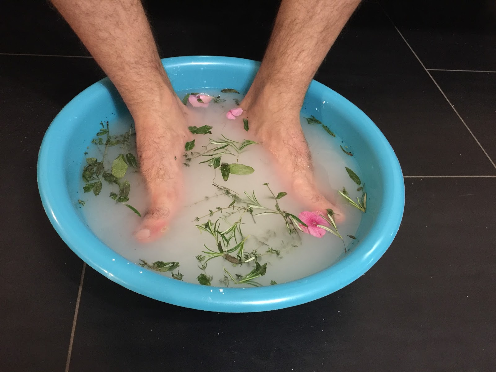 bain relaxant pied