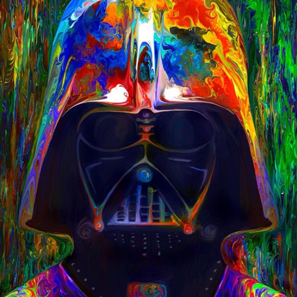 03-Darth-Vader-Star-Wars-Nicky-Barkla-Psychedelic-Celebrity-Portrait-Paintings-www-designstack-co