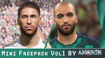 PES 2019 Faces Mini Facepack Vol 1 by Amir.Hsn7