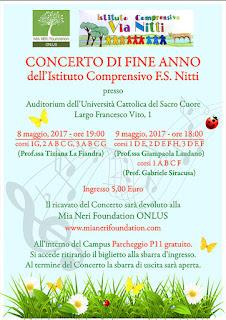 concerto beneficenza Istituto Compensivo F.S. Nitti