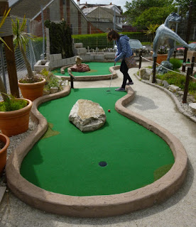 Jurassic Adventure Golf at the Santa Fe Fun Park in Swanage, Dorset