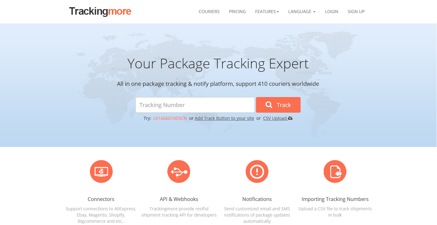 trackingmore: Aftership Alternative Tracking Sites