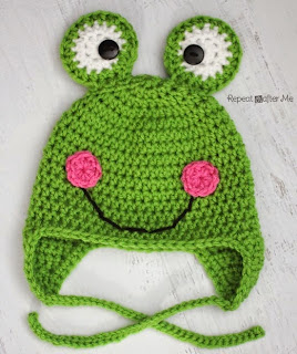 http://www.repeatcrafterme.com/2014/03/crochet-frog-hat-pattern.html
