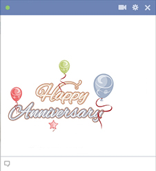Happy Anniversary Facebook Sticker