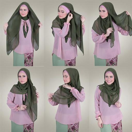 tutorial hijab segi 4 paris