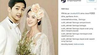 Akankah Kisah Romantis Pasangan Song Joong Ki dan Song Hye Kyo Berakhir Dengan Balutan Gaun Pengantin ?