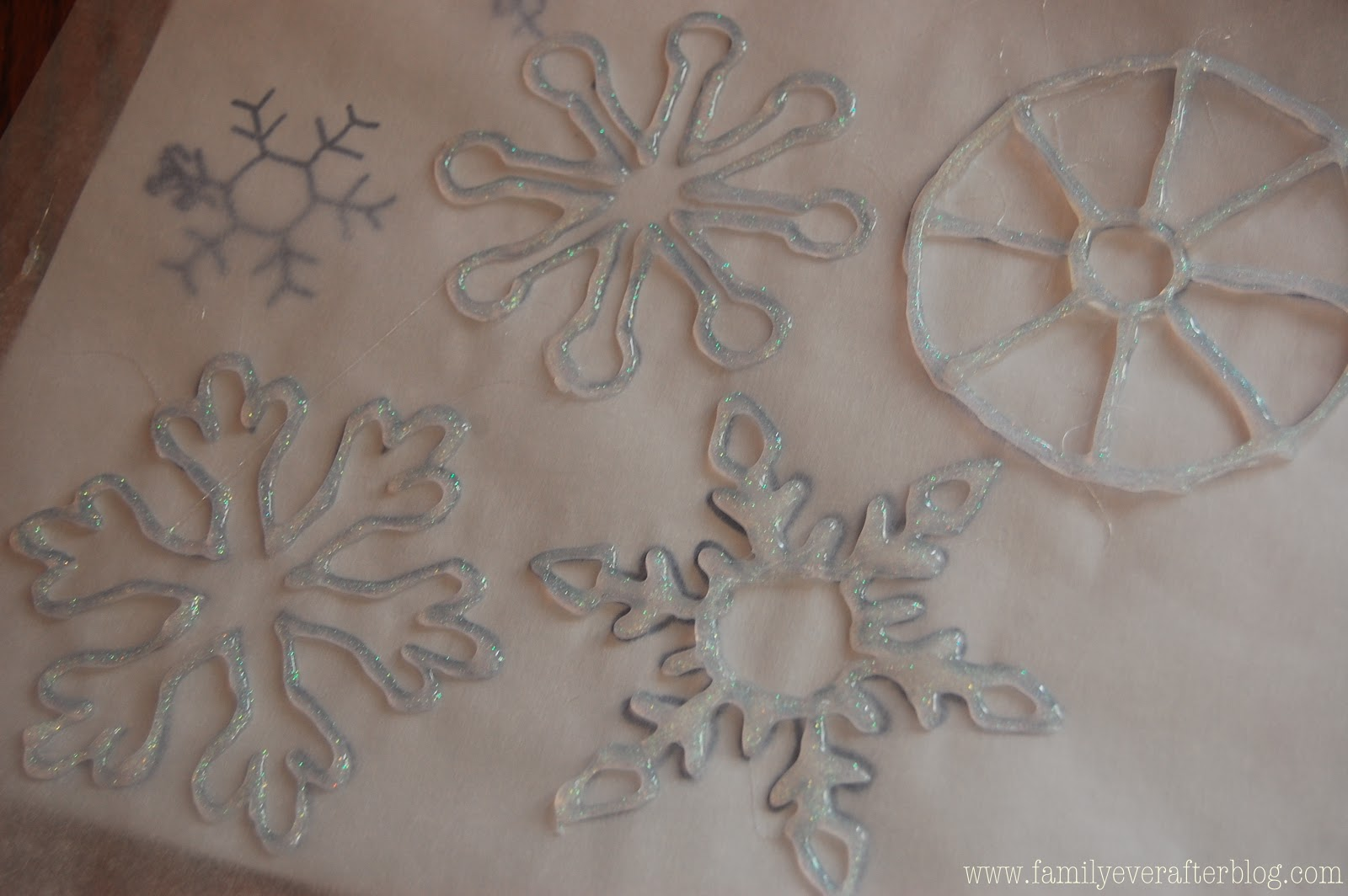Easy Hot Glue Snowflake Template Www Topsimages Com