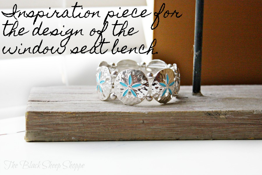 The bracelet I bought on my beach vacation was my inspiration for the window seat bench.