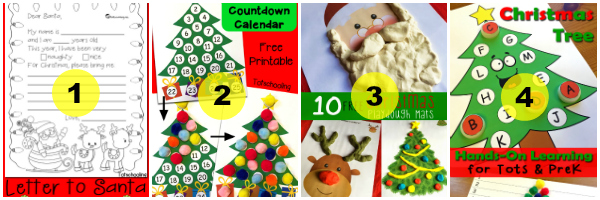 Letter To Santa 2 Christmas Countdown Advent Calendar 3 Playdough Mats 4 Tree Hands On Printables Subscribers Can Find This One