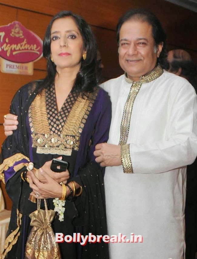 Anup Jalota with wife