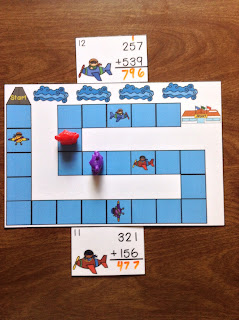 Airplanes 3 Digit Addition Regrouping Task Cards