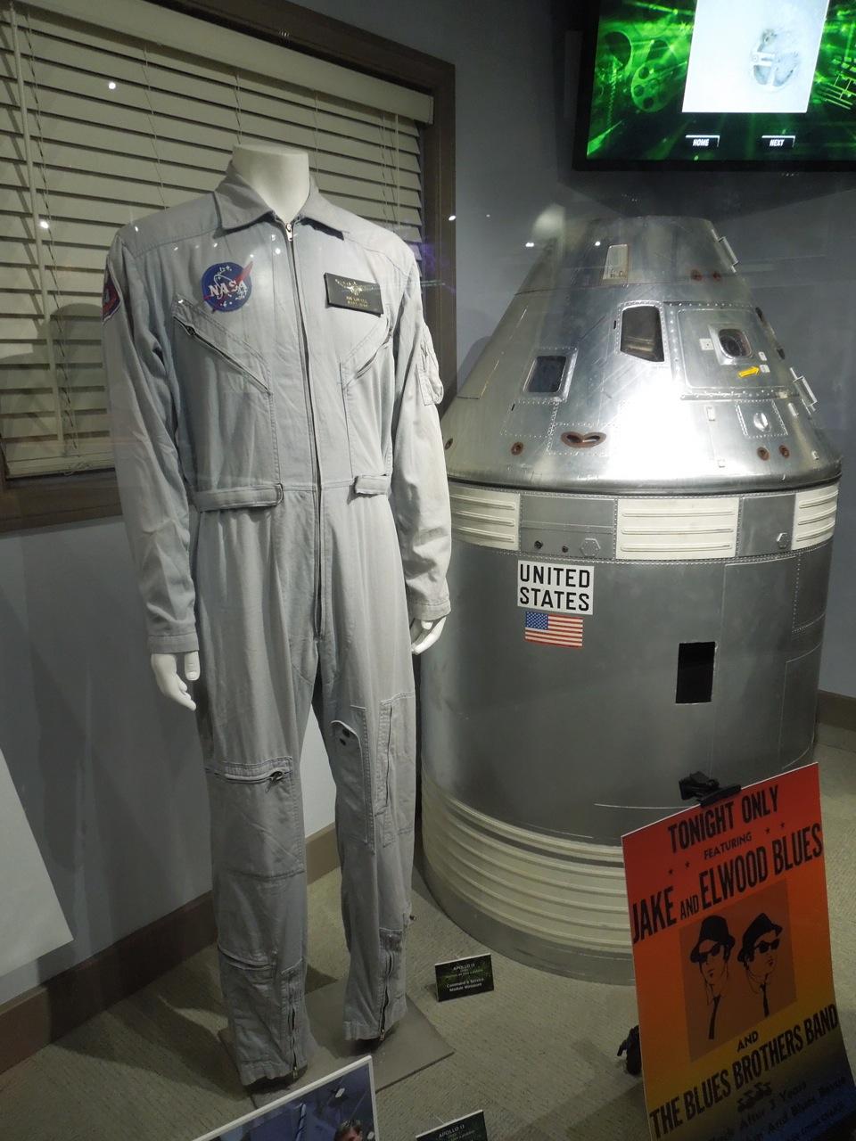 Tom Hanks NASA jumpsuit and Apollo 13 model miniatures on