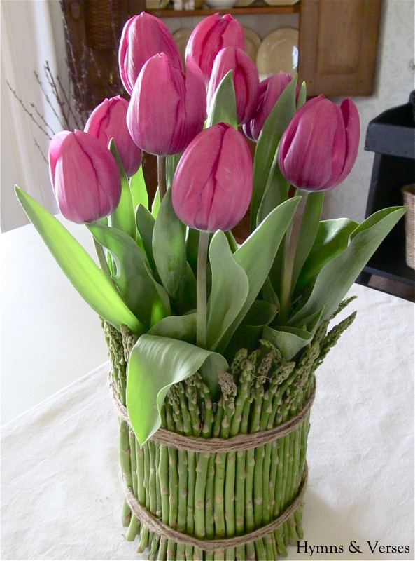 Tulip And Asparagus Centerpiece Hymns And Verses