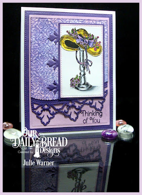 Our Daily Bread Designs Stamp Sets: Good Day, Medallion Background, Medallion Sentiments, Our Daily Bread Designs Custom Dies: Pierced Rectangles, Leafy Edged Borders, Our Daily Bread Designs Paper Collection: Pastel Paper Pad