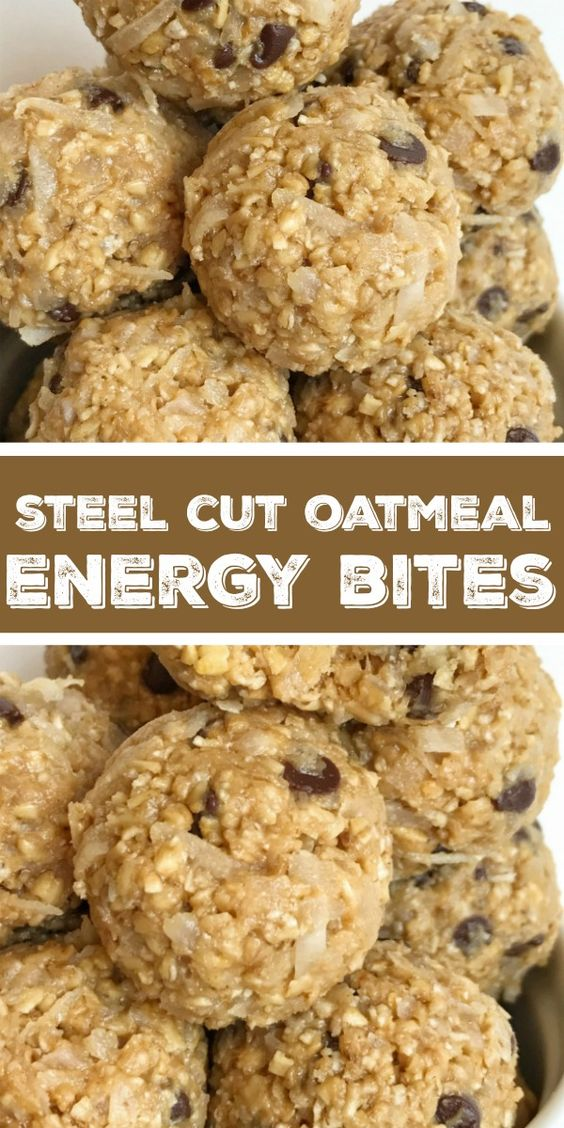 Steel Cut Oatmeal Energy Bites