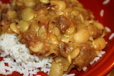 Deep south dish stewed butter beans baby limas for How to cook fresh lima beans from garden