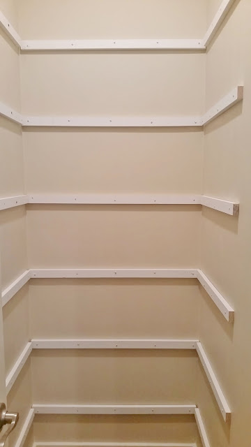 shelf supports for pantry makeover