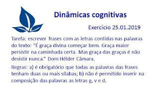 Dinâmicas cognitivas - Exercício 25.01.2019