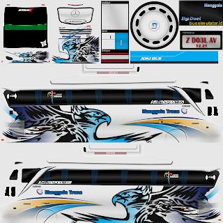 Download Livery Bus Manggala Trans Putih