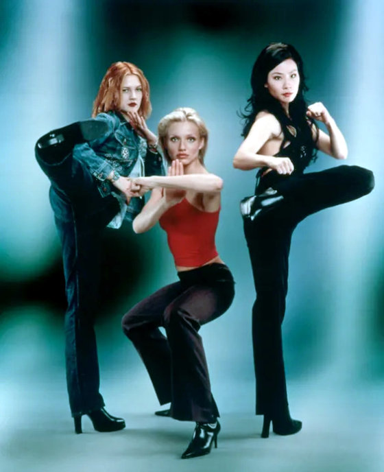 Charlie's Angels film It stars Cameron Diaz, Drew Barrymore, and Lucy Liu as three women working in a private detective agency in Los Angeles.