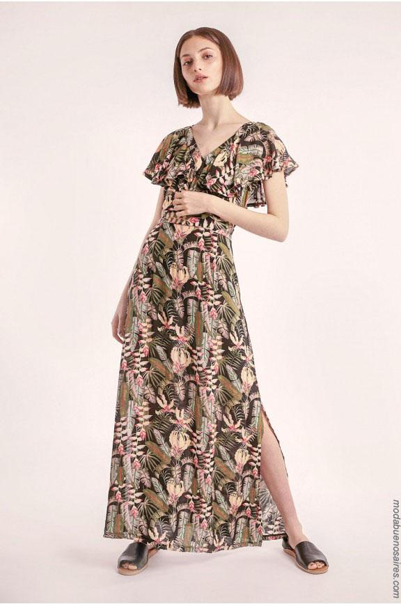 Vestido largo 2018. Moda de verano en Argentina. Moda 2018.