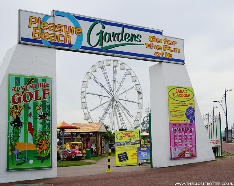 Pleasure Beach gardens in Great Yarmouth