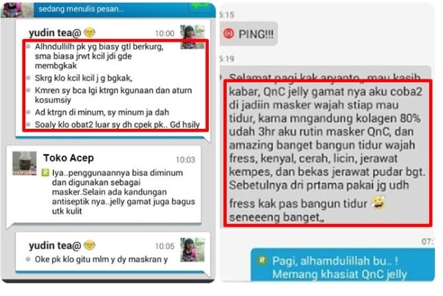 Testimoni Masker Wajah Herbal QNC Jelly Gamat