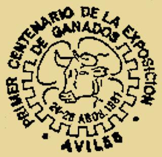 Matasellos centenario certamen ganadería Avilés, 1981