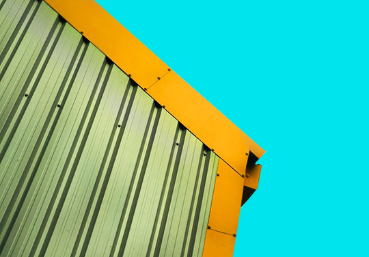 urban photography, urban photo, industrial, Sam Freek, contemporary photography, modern art, orange, blue, abstract,