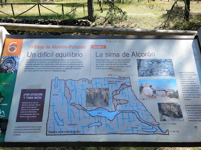 Sima de Alcorón, cartel informativo