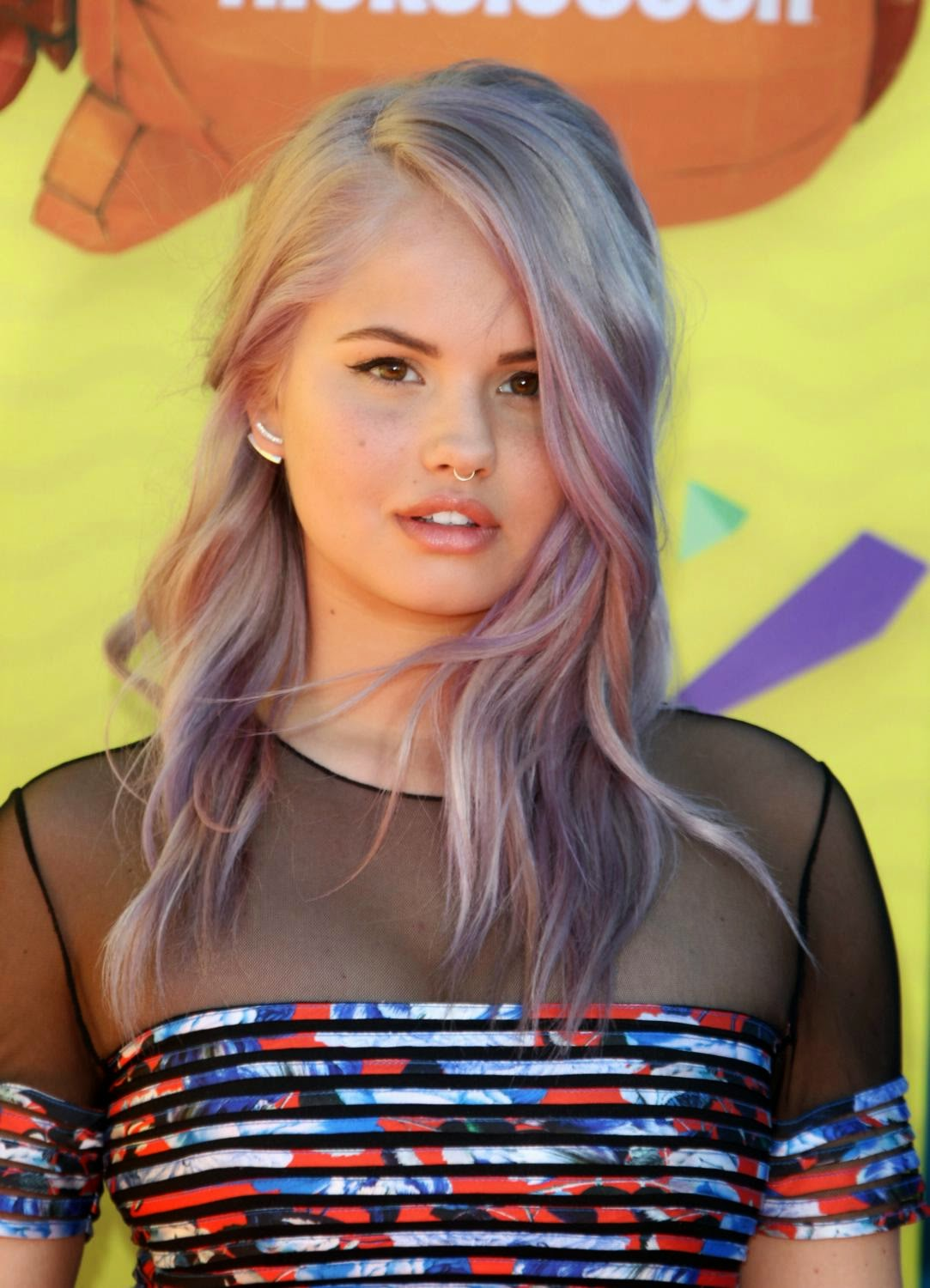 Debby Ryan in a flirty frock at the 2015 Nickelodeon Kids' Choice Awards