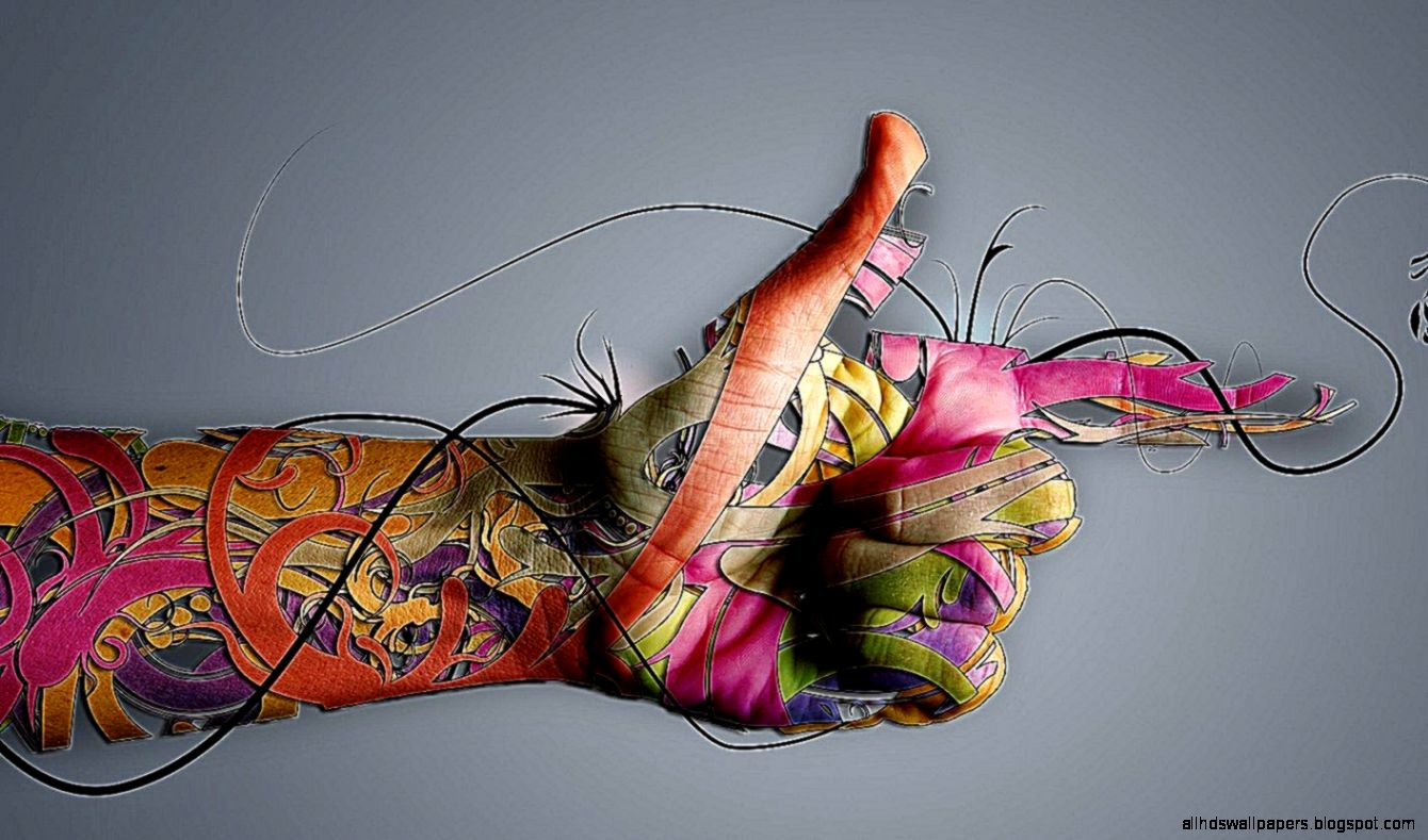 Art Wallpaper Abstract Hands