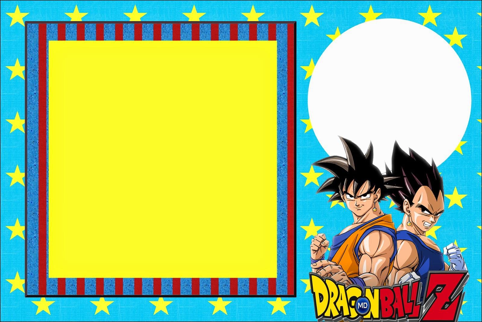 Dragon Ball Z Invitaciones Para Imprimir Gratis Ideas Y
