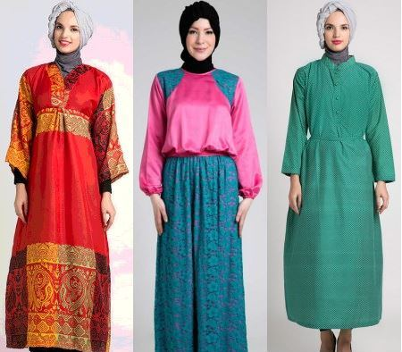 Model baju muslim untuk wanita berbadan gemuk