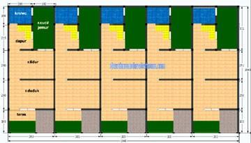 gambar denah rumah petak 1